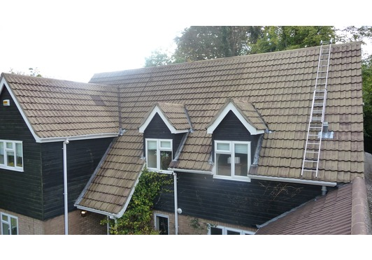 Roof Cleaning and Protective Sealer