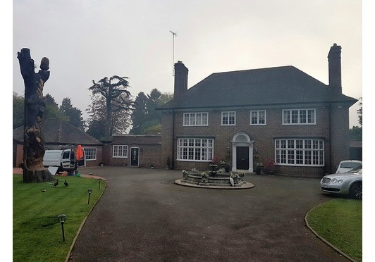 Large Detached House Roof Clean and Biocide